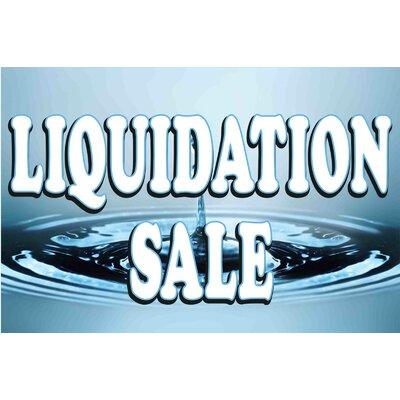 Liquidation Banner Size: 24 H x 36 W x 0.18 D