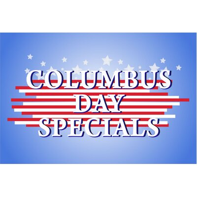 Columbus Day Banner Size: 24 H x 36 W x 0.18 D