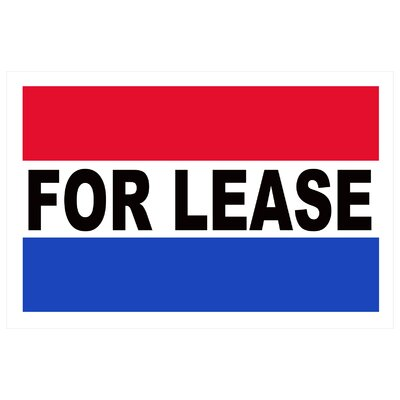For Lease Banner Size: 24 H x 36 W x 0.18 D