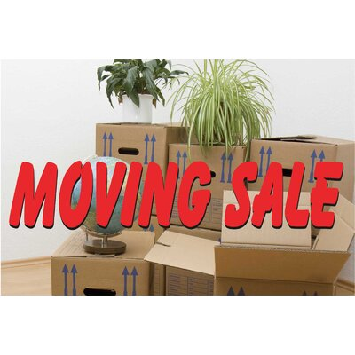 Moving Sale Banner Size: 24 H x 36 W x 0.18 D