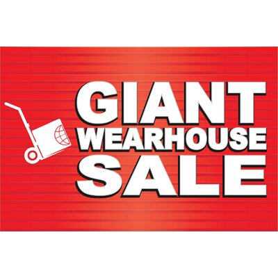 Giant Sale Banner Size: 24 H x 36 W x 0.18 D