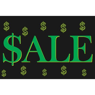 Sale Dollar Sign Banner Size: 24 H x 36 W x 0.18 D