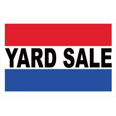 Yard Sale Banner Size: 24 H x 36 W x 0.18 D