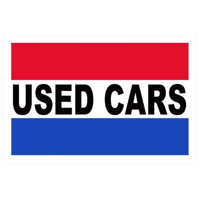 Used Cars Banner Size: 24 H x 36 W x 0.18 D