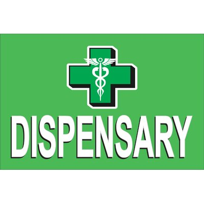 Dispensary Cross Banner Size: 24 H x 36 W x 0.18 D