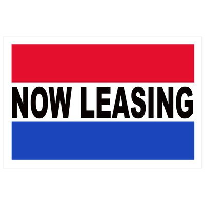 Now Leasing Banner Size: 24 H x 36 W x 0.18 D
