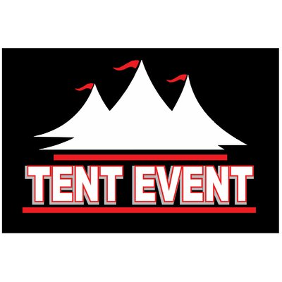Tent Event Banner Size: 24 H x 36 W x 0.18 D