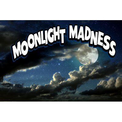 Moonlight Madness Banner Size: 24 H x 36 W x 0.18 D
