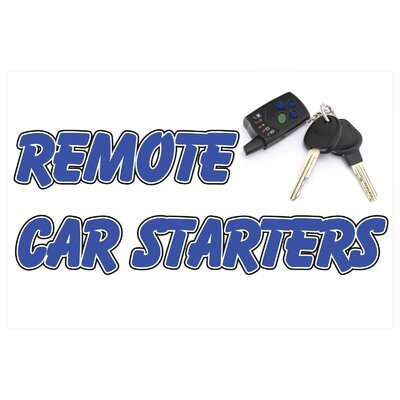 Remote Car Starter Banner Size: 24 H x 36 W x 0.18 D