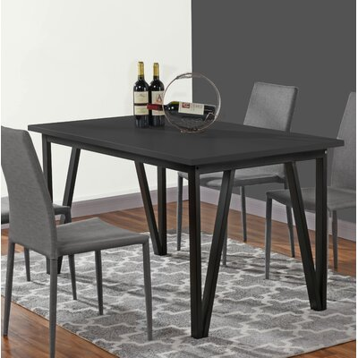 Bogovic Contemporary Dining Table Top Color: Black