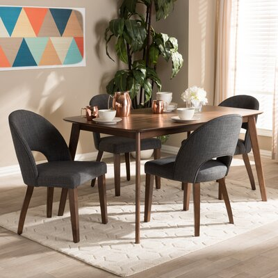 Dall 5 Piece Dining Set Color: Dark Gray