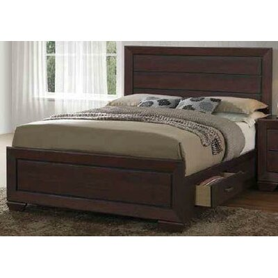 Charleena Panel Bed Color: Dark Cocoa, Size: King