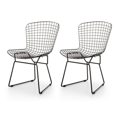 M38 Wire Side Chair Upholstery: Gunmetal