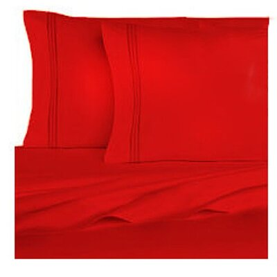 Rycerska 800 Thread Count Super Soft Sheet Set Size: California King, Color: True Red