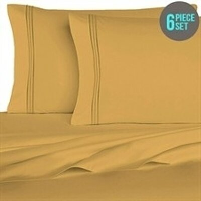 Rycerska 800 Thread Count Super Soft Sheet Set Size: King, Color: Golden Rod