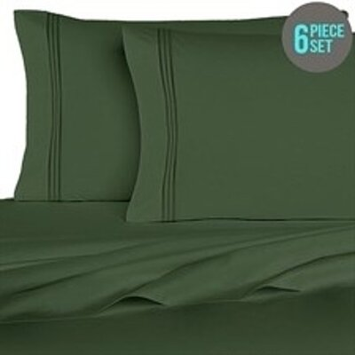 Rycerska 800 Thread Count Super Soft Sheet Set Size: King, Color: Hunter Green