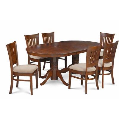 Crigler 7 Piece Extendable Dining Set Color: Brown
