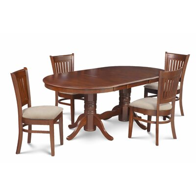 Miriam Wooden 5 Piece Extendable Dining Set Color: Brown