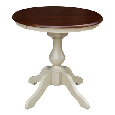 Jane Street Round Dining Table Size: 28.9 H x 30 W x 30 D, Color: Espresso / Antique Almond