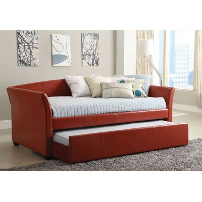 Slocumb Daybed with Trundle Color: Red