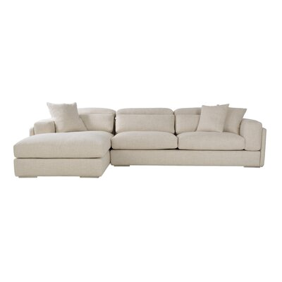 Hollywood Sectional Upholstery: Cream, Orientation: Right Hand Facing