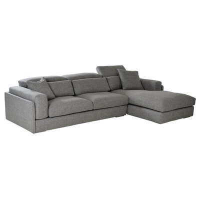 Hollywood Sectional Upholstery: Gray, Orientation: Left Hand Facing
