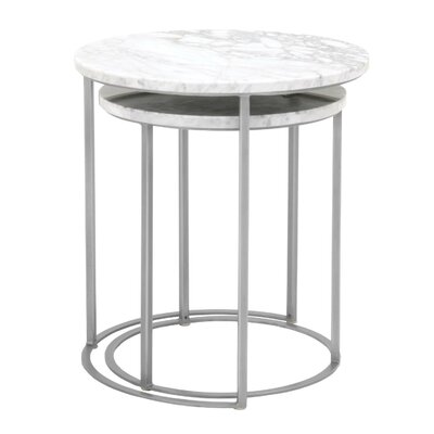Fishponds 2 Piece Nesting Tables Table Base Color: Brushed Stainless Steel