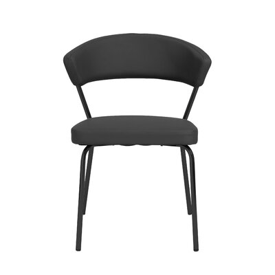Viviana Upholstered Dining Chair Set Upholstery Color: Black, Frame Color: Black