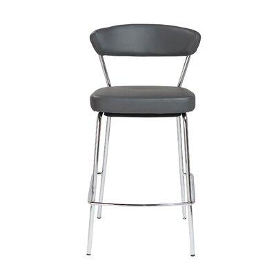Viviana 25.6 Bar Stool Upholstery: Gray