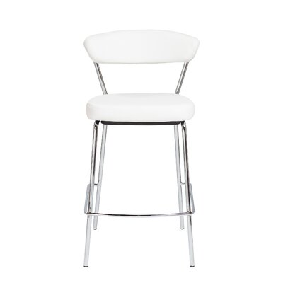 Viviana 25.6 Bar Stool Upholstery: White