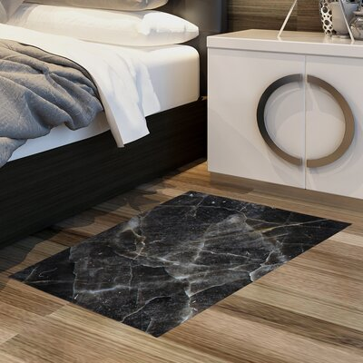 Huizenga Black Area Rug