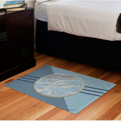 Husby Marble Blue Area Rug