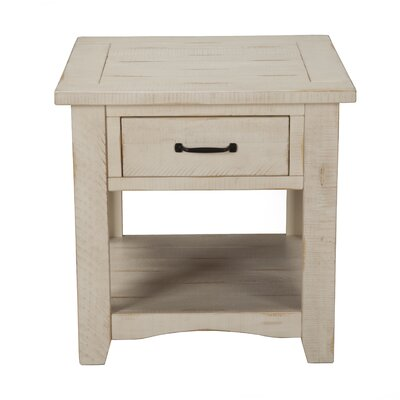Hassinger End Table Color: Antique White