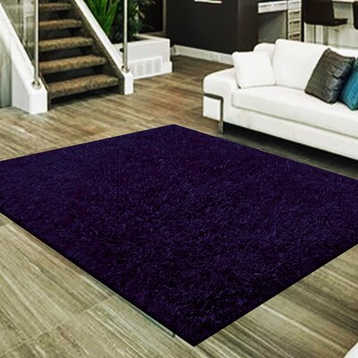 Mcquillen 3 Type of Yarn Shag Hand-Tufted Purple Area Rug