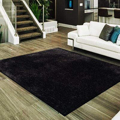 Marcello Hand-Tufted Black Area Rug
