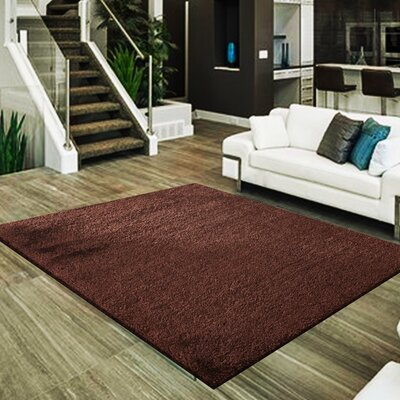 Marcello Hand-Tufted Brown Area Rug