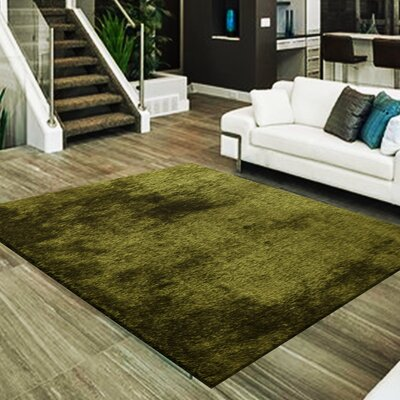 Marcello Hand-Tufted Hunter Green Area Rug