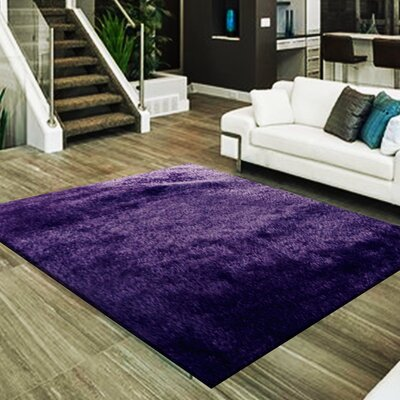 Marcello Hand-Tufted Purple Area Rug