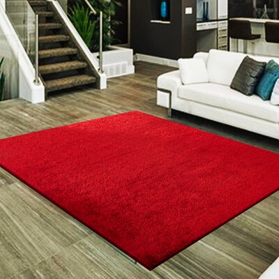 Marcello Hand-Tufted Red Area Rug