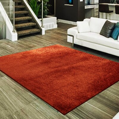 Marcello Hand-Tufted Rust Area Rug
