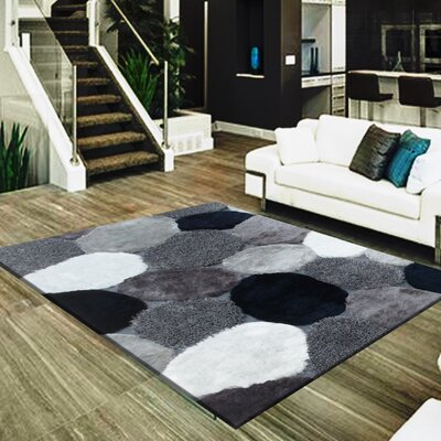 Dascomb Geometric Design Hand-Woven Gray/Black Area Rug