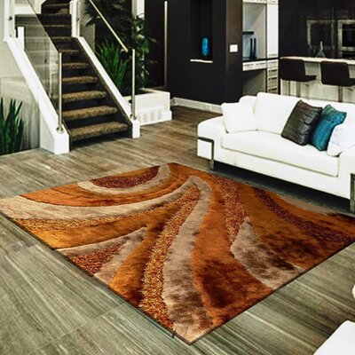 Straley Hand-Woven Brown Area Rug