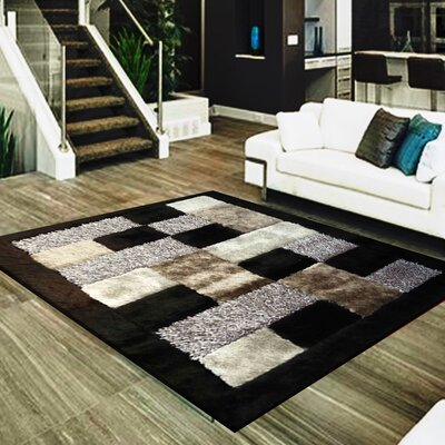 Cuthbertson Geometric Design Hand-Woven Gray/Black Area Rug