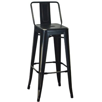 30.5 Bar Stool Color: Antique Black