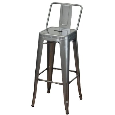 30.5 Bar Stool Color: Silver