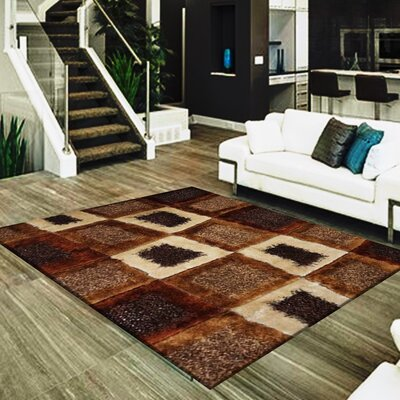 Shawna Geometric Design Hand-Woven Brown/Beige Area Rug