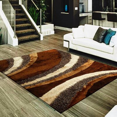 Straley Hand-Woven Brown/Ivory Area Rug