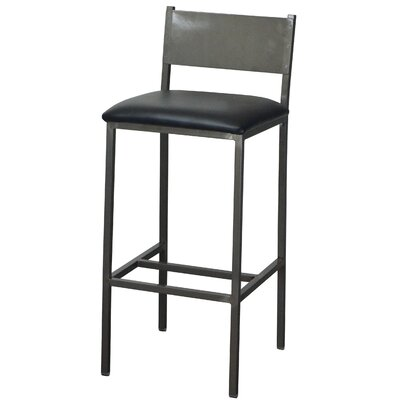 33 Bar Stool Upholstery: Black