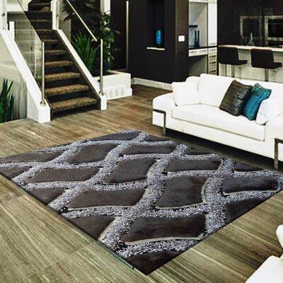 Shawna Geometric Design Hand-Woven Black/Gray Area Rug
