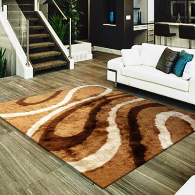 Straley Hand-Woven Brown/Beige Area Rug